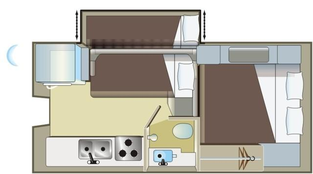 Fraserway 10ft Truck Camper With Bunk Beds 3 2 Berth Motorhome
